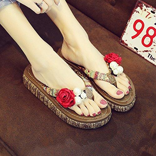 Pantofole Al In Riva Qingchunhuangtang Flip Rosa Mare E Pantofole 5aqIyAw