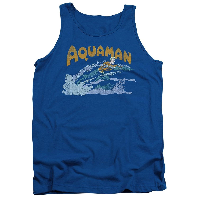 DC Comics Superhero Aqua Swim Adult Tank Top Shirt
