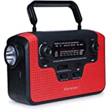 Real NOAA Alert Weather Radio with Alarm, iRonsnow IS-388 Solar Hand Crank Emergency AM / FM / SW / WB Radio, TF Card Speaker, LED Flashlight & Reading Camping Lamp, 2300mAh Cell Phone Charger