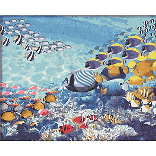Fairylove 40 x 50 Paint by Numbers for Adults DIY Oil Painting , Underwater World