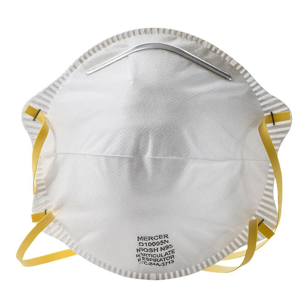 Mercer Industries D10005N N95 NIOSH Approved Particulate Respirator, 20 Pack