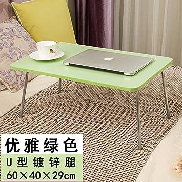 DADAO-Mesa de ordenador portátil, cama con una pequeña mesa plegable, portátil, perezoso, mesa escritorio pequeño,verde: Amazon.es: Hogar