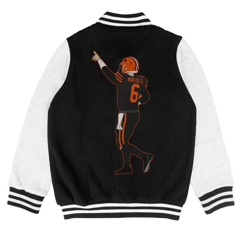 FPFLY Kids Girls Boys Dangerous-MVP-6 Cartoon Style Cotton Jackets Button Baseball Uniform 2-10 Years
