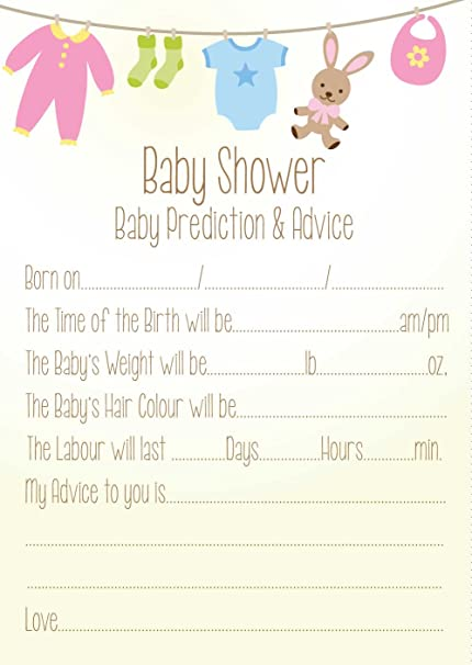 Extreem Baby Shower Prediction and advice Neutral theme: Amazon.co.uk  #FD75