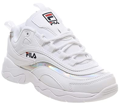 info for e24b1 64961 Fila Ray Damen Weiß/Metallic Silber Sneakers