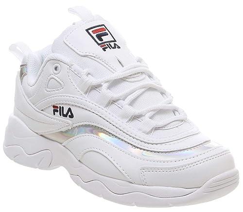 Fila Ray Donna Bianco/Metallic Argento Sneaker