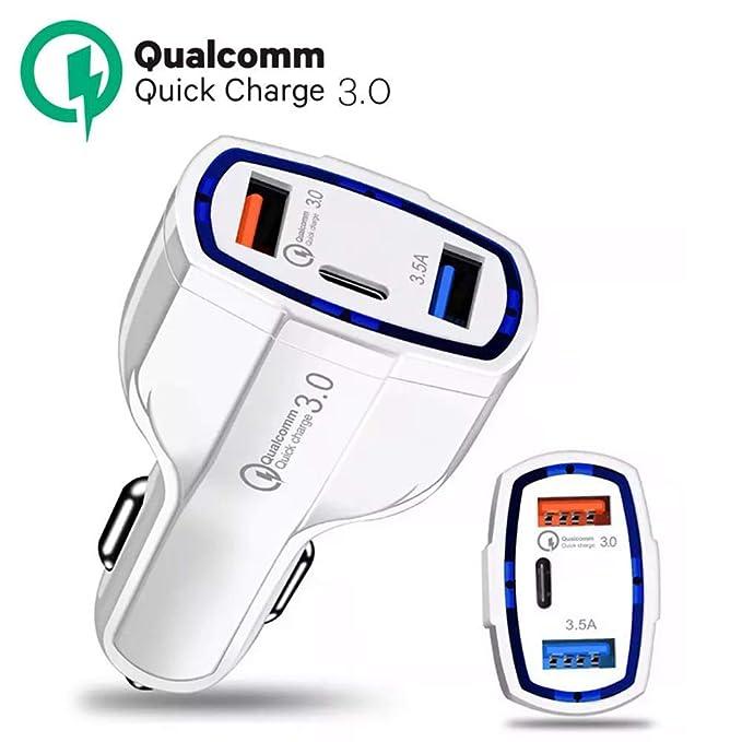 ULTRICS Cargador de Coche, 36W Quick Charge 3 Puertos USB ...