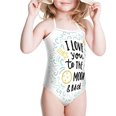afd010440e Amazon.com: iPrint Swimsuit for Girls Dreams Children Sibling Love Friends  Baby Kids Swimwear: Clothing