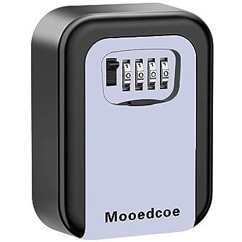 Mooedcoe Caja Fuerte Llaves Caja de Seguridad Llaves con 4 Numeros ...