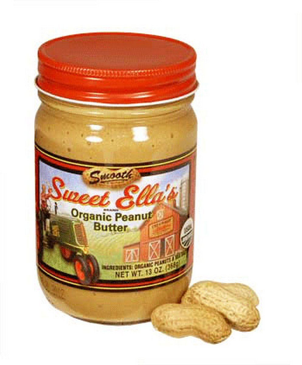 Cream-Nut And Sweet Ella'S, Pnut Butter, Og1, Smooth, Pack of 12, Size - 13 OZ, Quantity - 1 Case