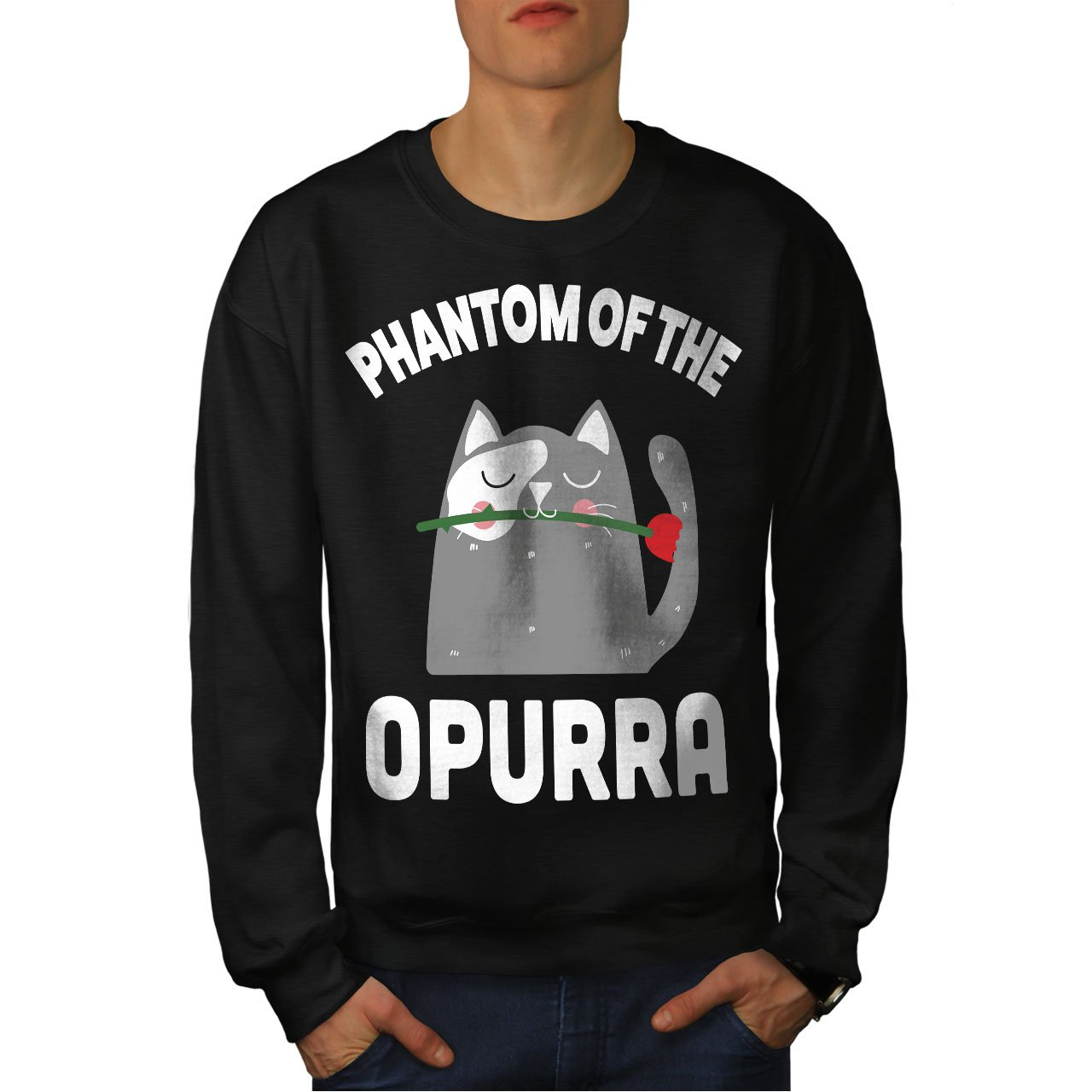 Funny Casual Jumper wellcoda Phantom Cute Rose Mens Sweatshirt