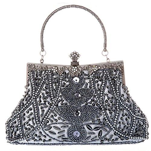 Belsen Women's Vintage Bead Sequin Evening Handbags ()