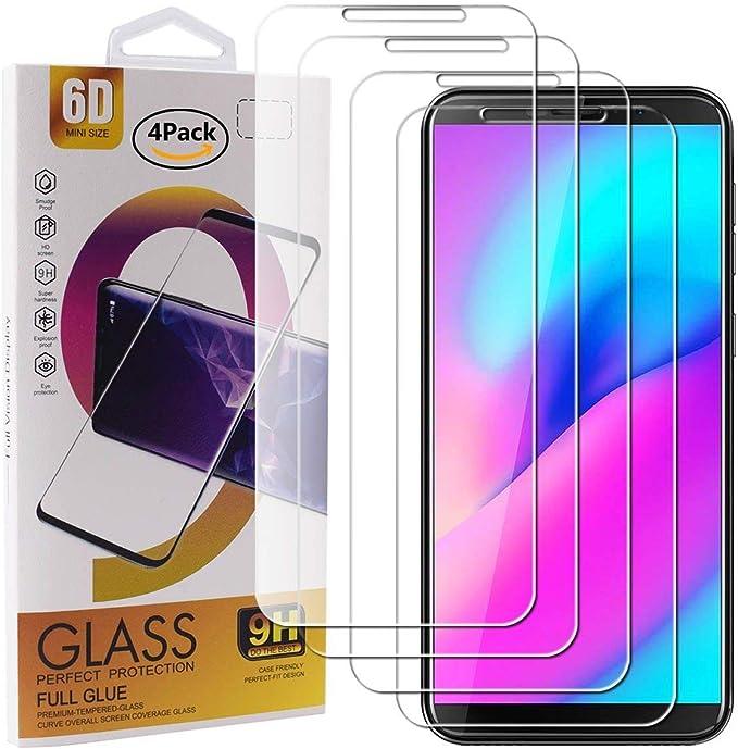 Guran 4 Paquete Cristal Templado Protector de Pantalla para Cubot H3 Smartphone 9H Dureza Anti-Ara?azos Alta Definicion Transparente Película: Amazon.es: Electrónica
