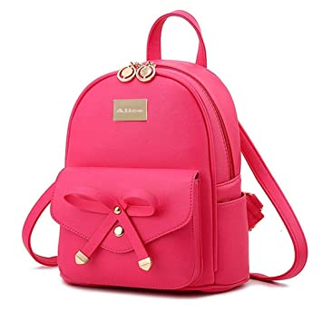 Alice Cute Pink Mini PU Leather Backpack Fashion Small Daypacks Purse for  Girls and Women 66f4f38f3ec34