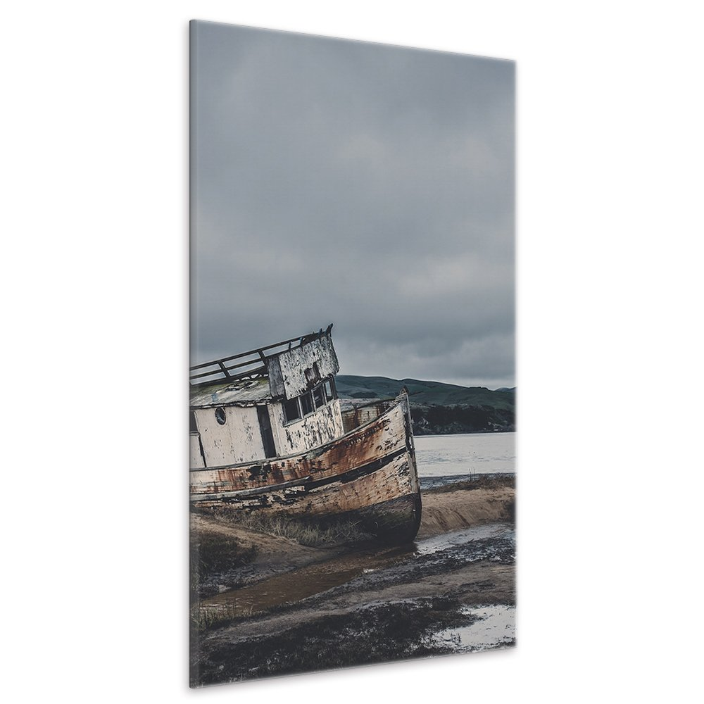 malango® Leinwandbild - Altes Boot 100 x 150 cm