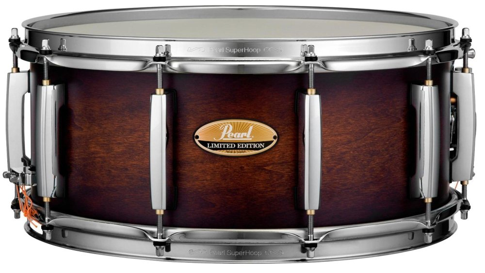 Pearl Limited Edition Wood/Fiberglass Snare Drum - 6.5''x15'' - Satin Amber Lacquer