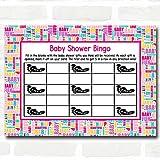 Fun Words Baby Shower Games Bingo Cards