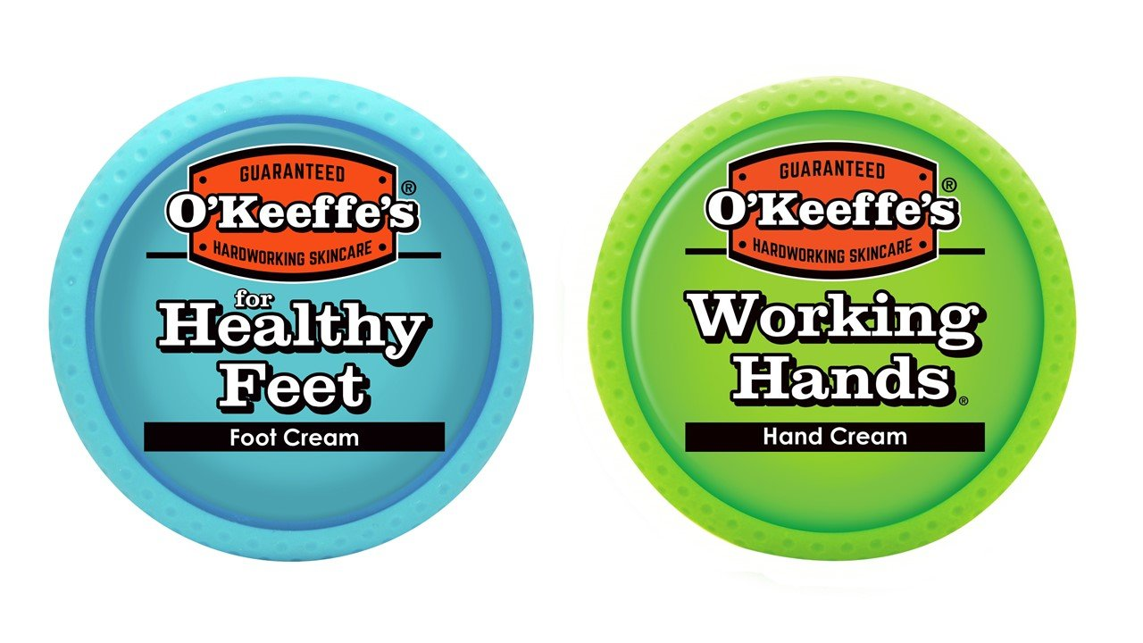 O'Keeffe's Working Hands 3.4 Ounce & Healthy Feet 3.2 Ounce Combination Pack of Jars by O'Keeffe's