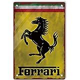 Retro replica vintage style metal tin sign gift garage sports Ferrari 1948-1960