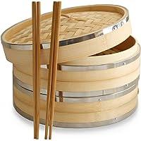 10Inch vaporera de bambú por Harcas. 2Tier. Mejor