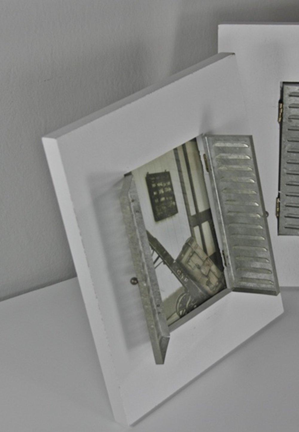 elbmöbel Bilderrahmen mit Fensterladen HOLZ Stehrahmen Fotorahmen ...
