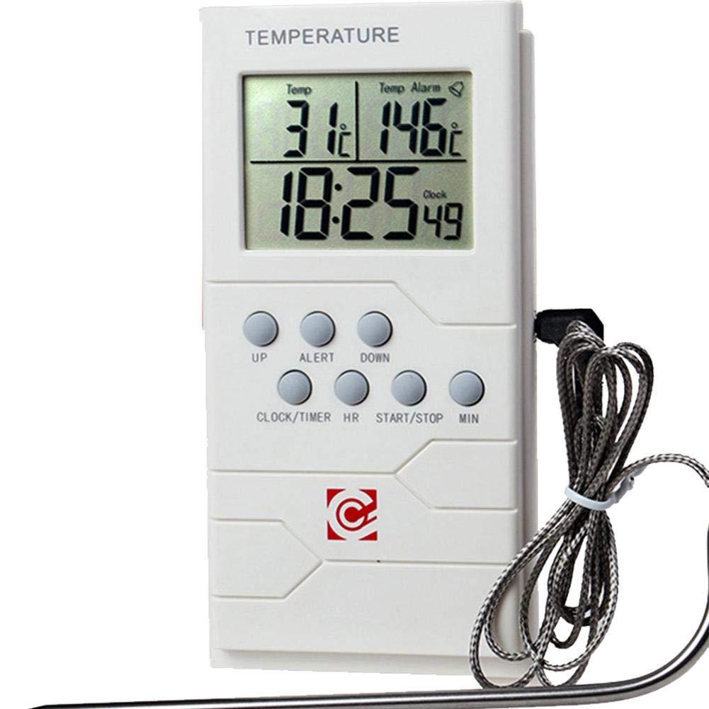 Commutation Celsius//Fahrenheit Mesure num/érique de la temp/érature de la viande de gril avec fonction dalarme pour la cuisson des aliments dans la cuisine Thermom/ètres pour barbecue