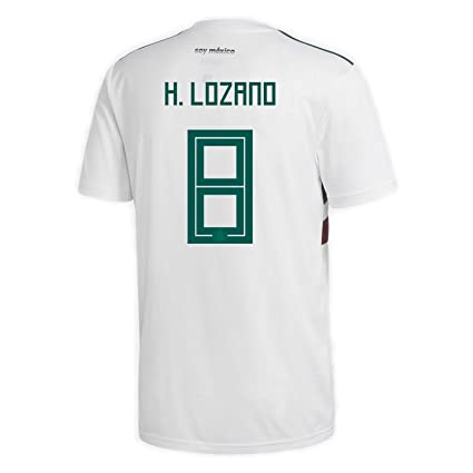 pre order f9498 7be2b adidas H. Lozano #8 Mexico Away Men's Soccer Jersey World Cup Russia 2018