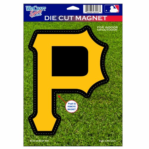 MLB Pittsburgh Pirates Die Cut Logo Magnet