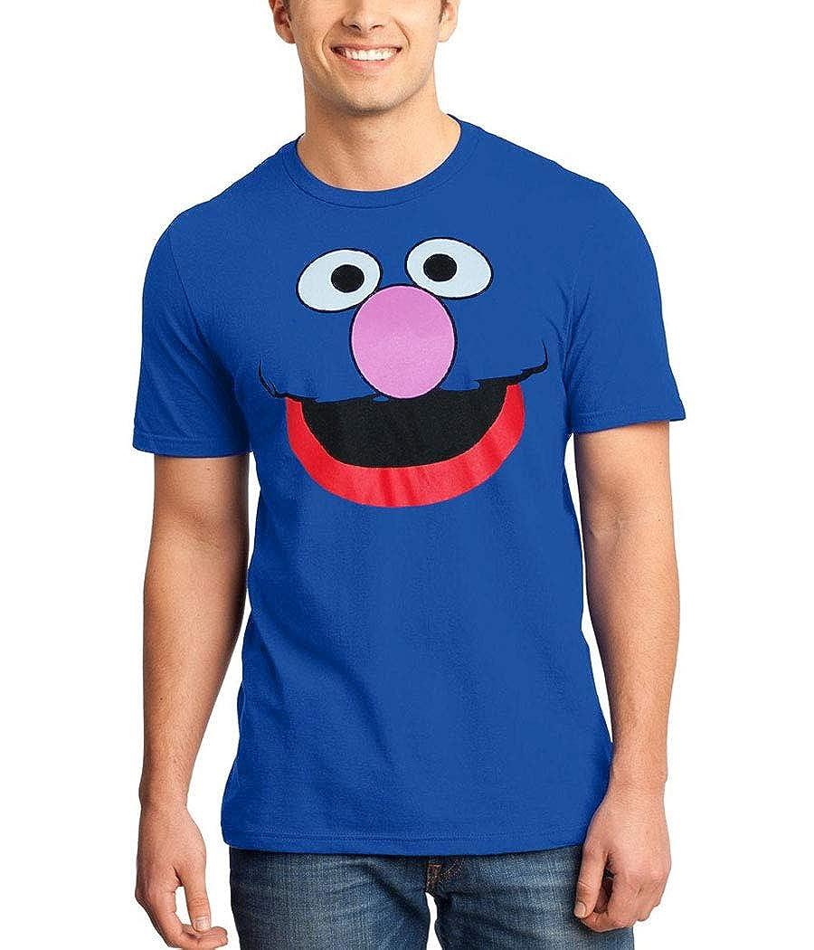 Sesame Street Grover Face T-Shirt Blue Star