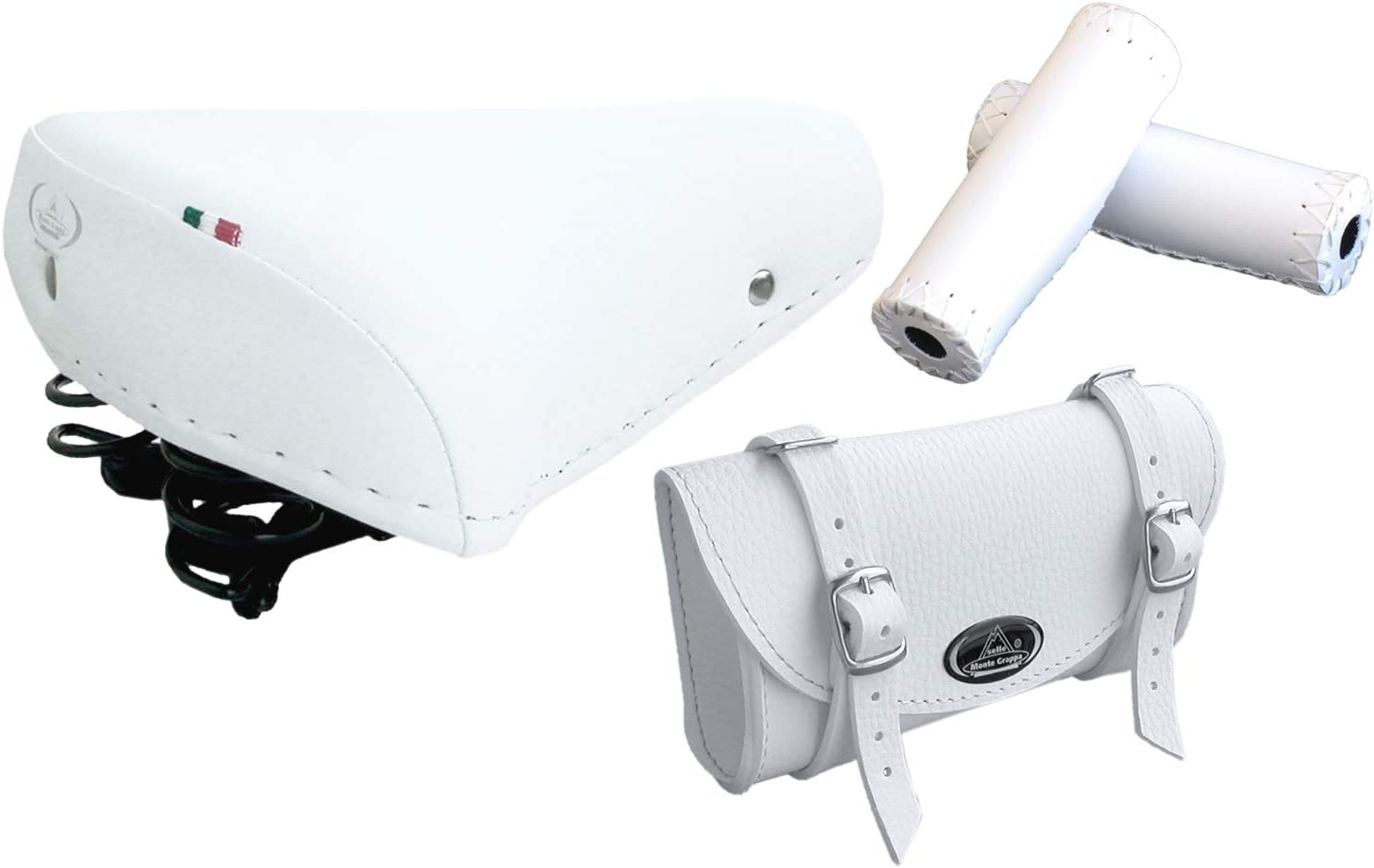 Bag MOD Tris Montegrappa 0016 White Vintage Saddle Model 07//F Grips