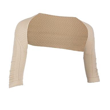 285d9671f5 Baoblaze Fashion Women s Shoulder Arm Control Shaper Stretch Shapewear  Slimmer Humpback Prevent Armwear - Beige