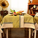 Two - Color Table Flag Cloth Imitation Ma Stitching Table Flag Tea Table Cloth Tv Cabinet Cover Towel Bed Towel Bed Flag,Brown Green Fight White,30Cm×180Cm