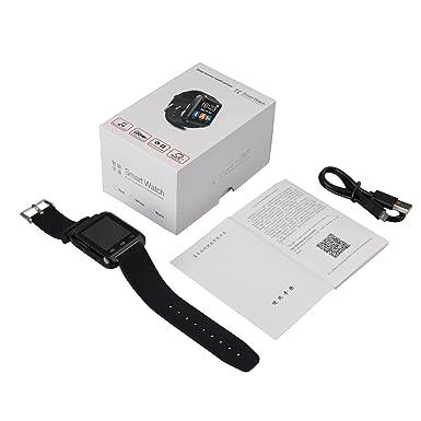 ZN U80 Bluetooth reloj inteligente muñequera dormir alarma pasómetro para Android Samsung fiesta para iPhone: Amazon.es: Electrónica