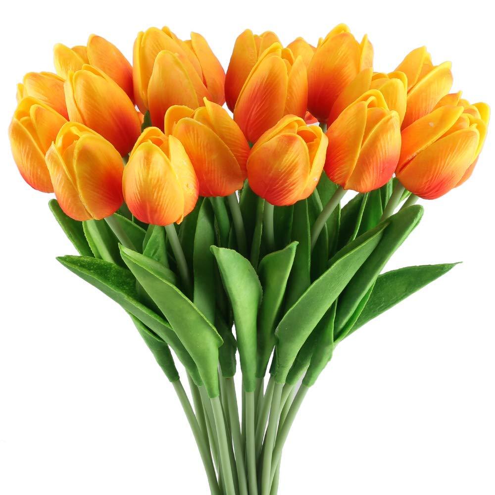 Di Grazia Pack Of 20 Yellowish Orange Colour Artificial Amazon In Electronics