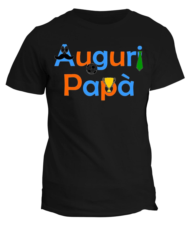 fashwork Tshirt Auguri papà - Festa del papà - Happy Father's Day - in Cotone by fshX18