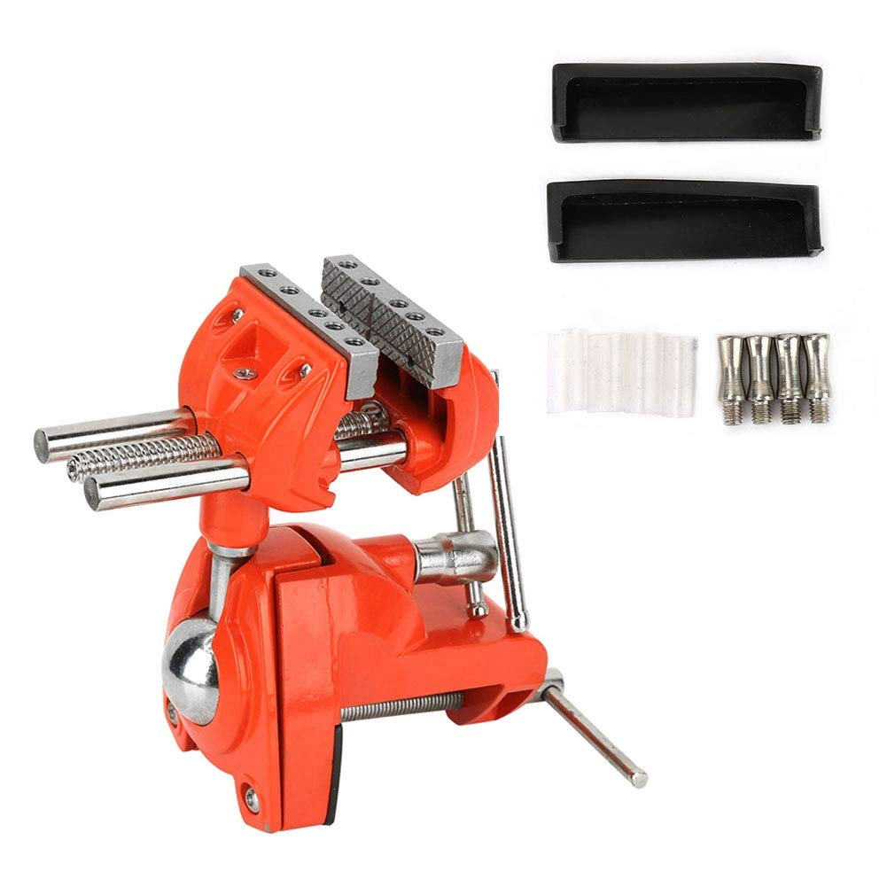 Adjustable 70mm 360 Degree Rotating Clamp Vise Jaw Width Vise Table Clamp for Workbench Woodwork