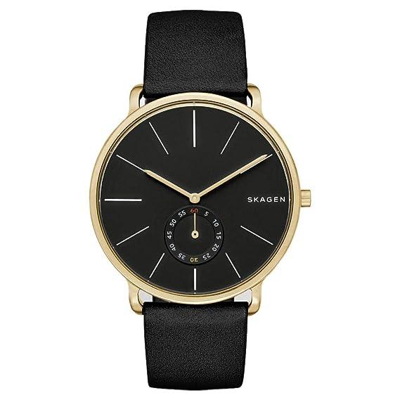 Skagen Reloj analogico para Hombre de Cuarzo con Correa en Piel SKW6217: Amazon.es: Relojes