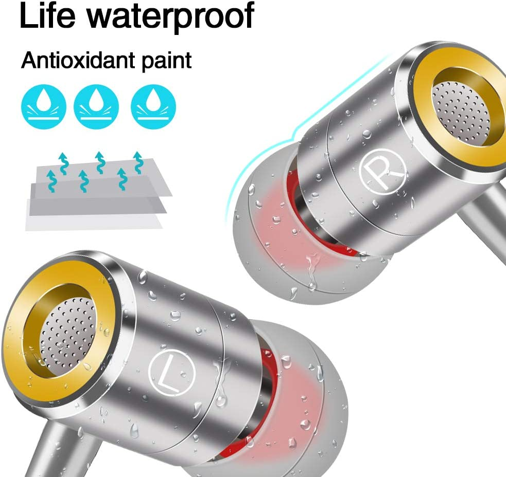 Pomisty Ear Headphones Ear Earphones with Microphone Noise Isolating Extra Bass Wired Earbuds for iPhone iPad iPod Samsung Galaxy Huawie MP3 and All 5mm Audio Device