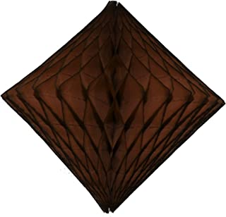 product image for 3-Pack 12 Inch Honeycomb Diamond Decoration, Brown