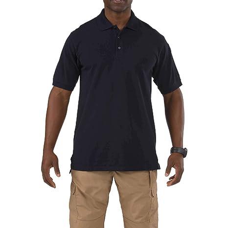 bad16f98f91 5.11 Tactical Short Sleeve Tall Professional Polo Shirt, Dark Navy, Large