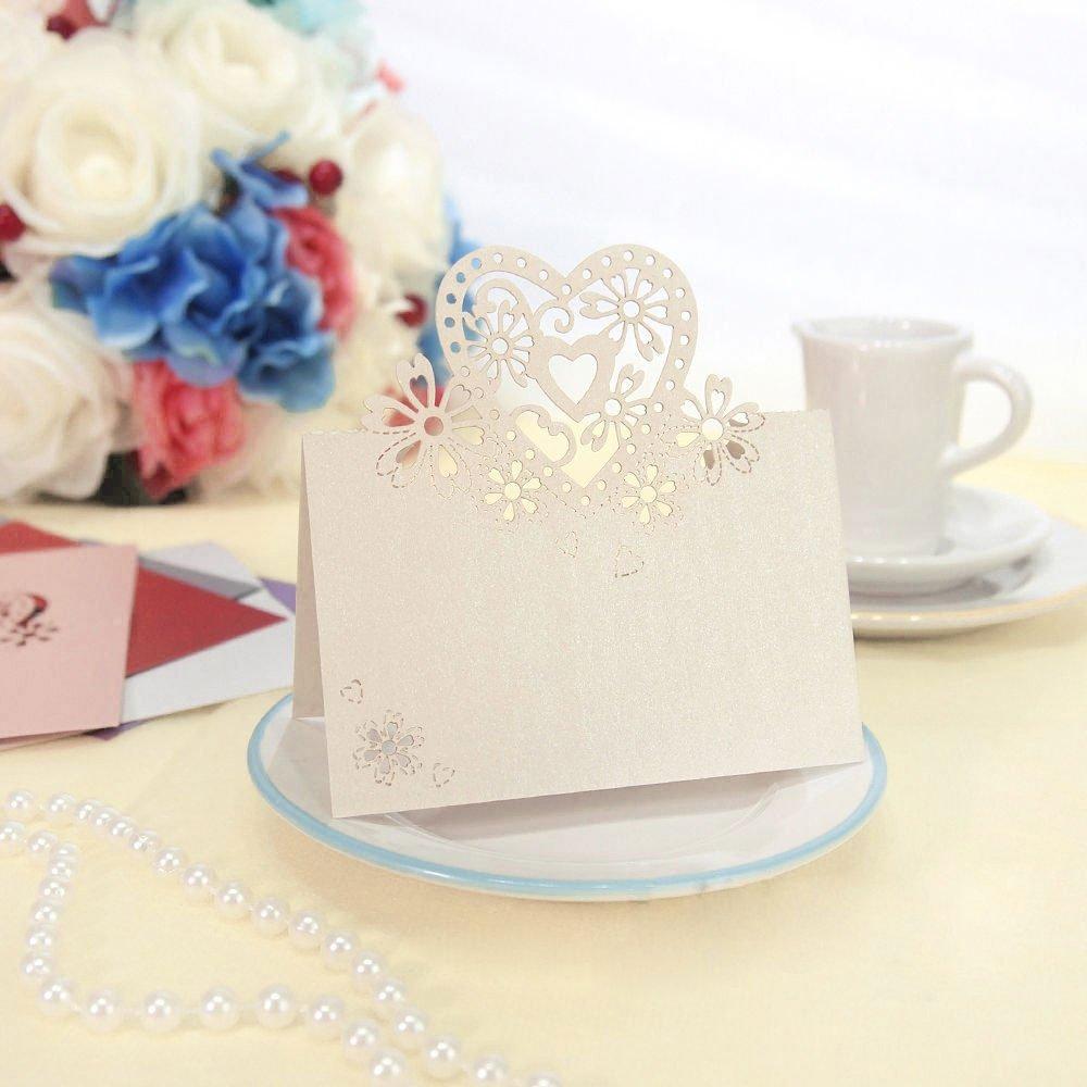 Amazon.com: Jypc 50pcs Wedding Party Table Name Place Cards Favor ...