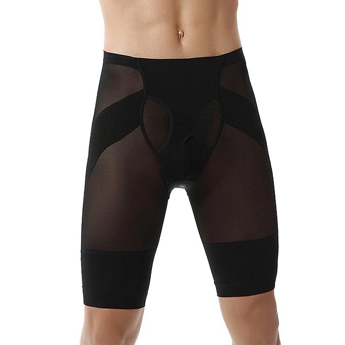 Pantalones Cortos de Deporte Moldeador con Hombre Ropa Interior Reductora Faja Moldeadora Reductora Adelgazante Cinturón Adelgazante