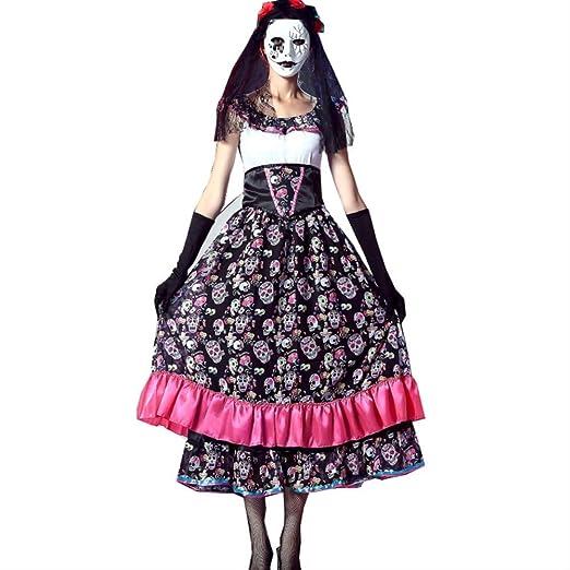 CHNWSJ Disfraces de Halloween cadáver de la Novia del Traje del ...