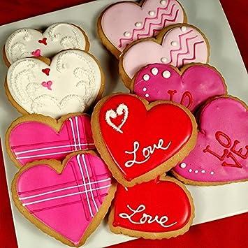 custom cookies hand decorated valentine heart cookies - Decorated Valentine Cookies