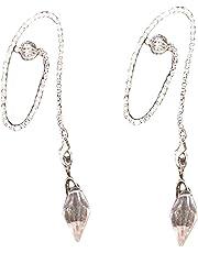 Gemstone Faceted Herkimer Diamond Pendulum