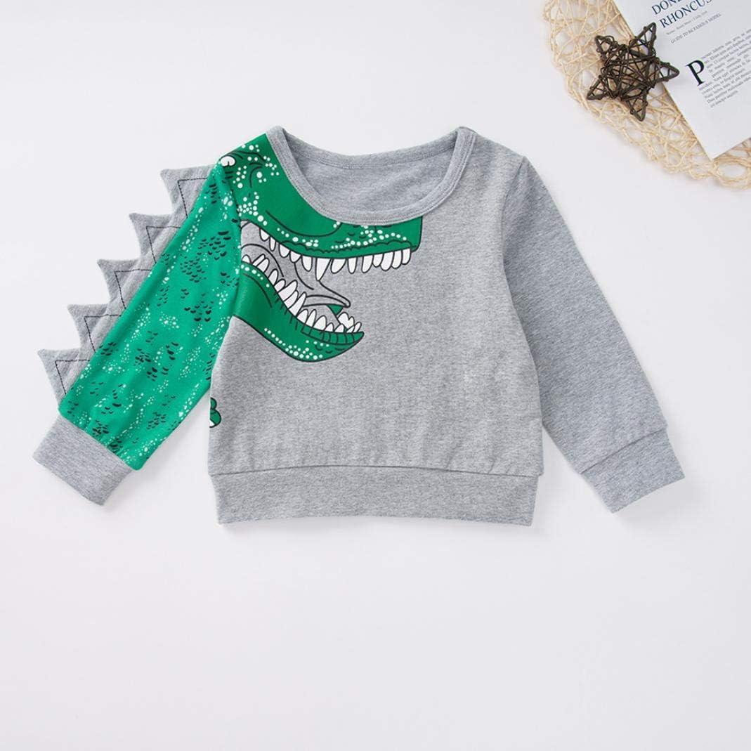MJuan-clothing 2019 New Green Dinosaur Cartoon Long Sleeve Trousers Suit