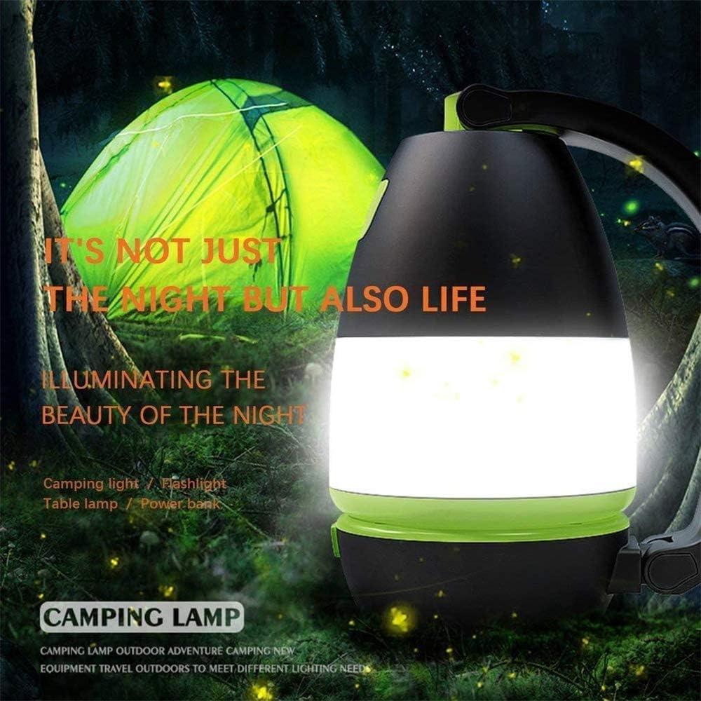 Jagen Ect Notfall 3 in 1 Camping Lantern Wiederaufladbare LED-Taschenlampe 2400Mah Energien-Bank Und Wasserdicht Ultimative Faltbare Laterne Taschenlampe F/ür Heim-Licht Nacht Fischen