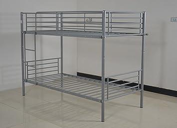 Riana Space Saving Bedroom Bunk Bed Metal Frame Sleeper 2 Separate