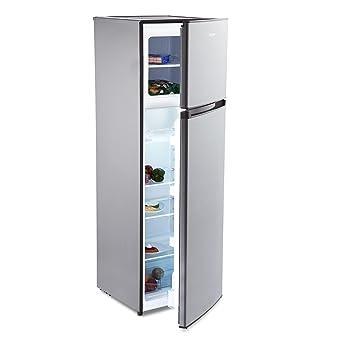 KLARSTEIN Height Cool Silver Nevera con congelador (Combi con 199 ...