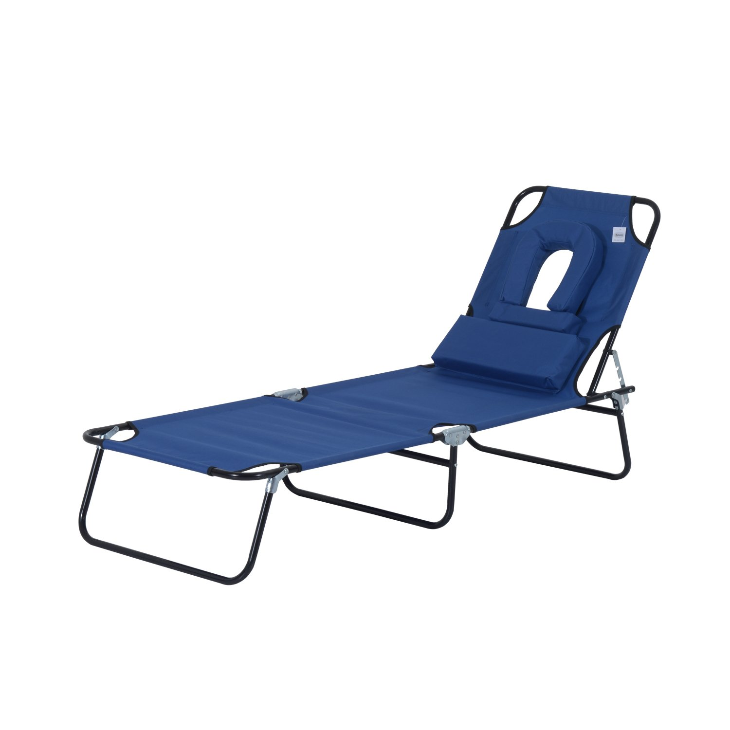 Outsunny Sun Bed Chairs Garden Lounger Recliner Reclining Folding